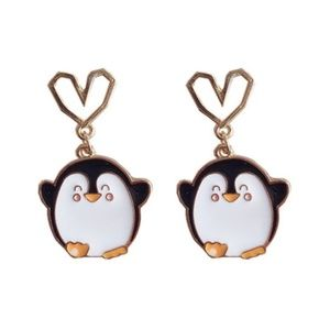 🌟2 for 25$🌟Happy Penguin with Heart earrings